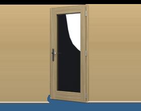 Houten deurenk
